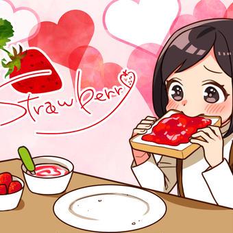 イチゴ三昧の朝食に目がハート♪