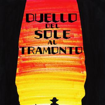 DUELLO DEL SOLE AL TRAMONTO