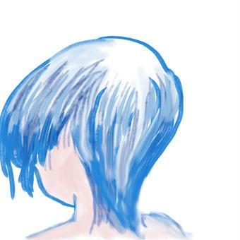 後ろ向きの青さ01