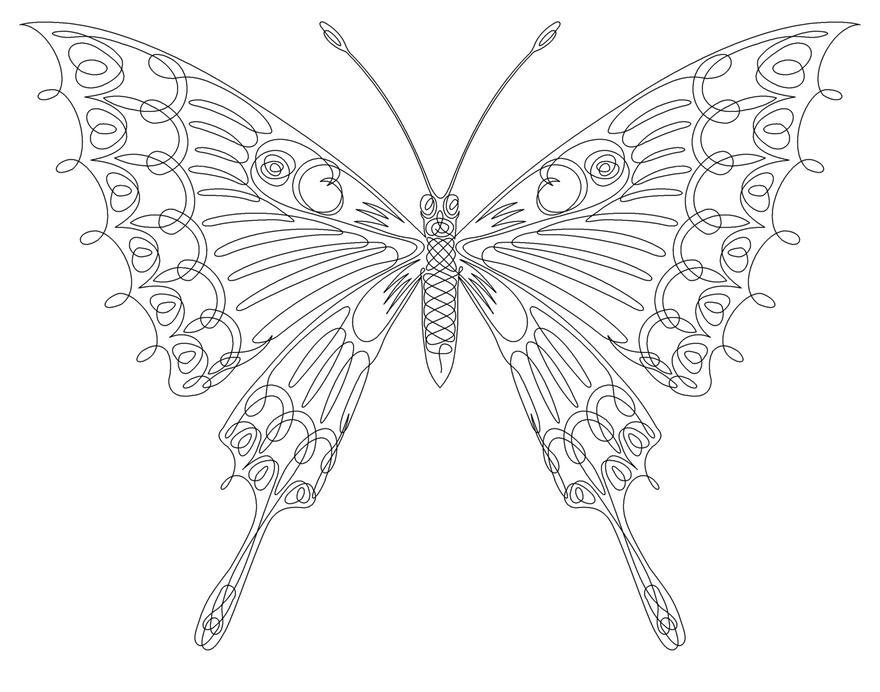 一筆書き 蝶