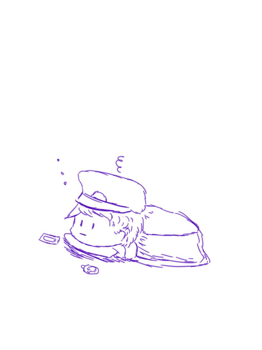 【オリキャラ】コタツで眠たいピラフ【イラスト】
