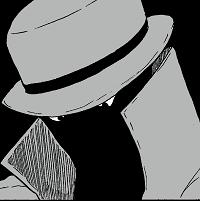 帽子の人物