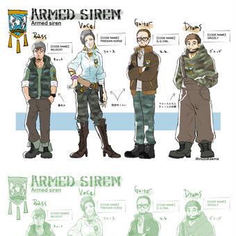 【ARMED SIREN】キャラ紹介