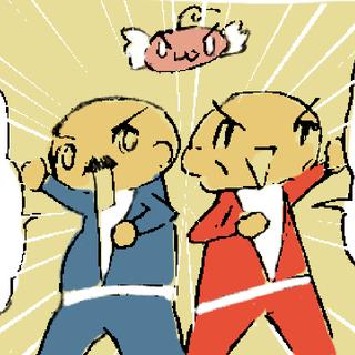 4コマ漫画「薄毛戦隊ツルリンジャ―」