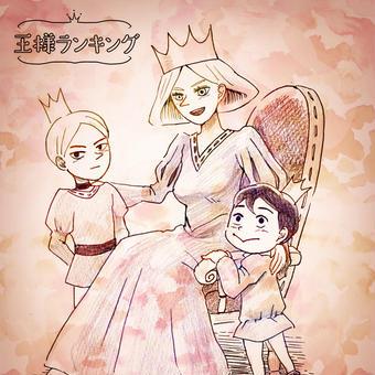 【王様】王妃と二人の王子