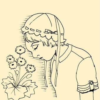 シネラリアと少女