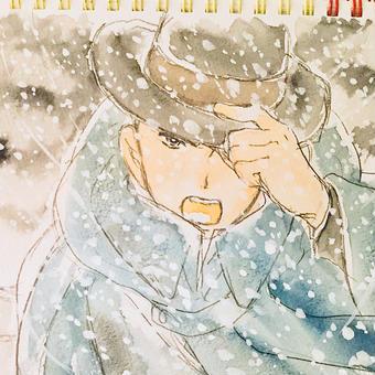 吹雪と賢治。