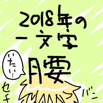 2018年の一文字は腰!