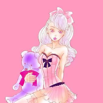 熊とピンクちゃん