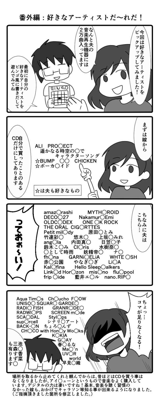 番外編:好きなアーティストだ~れだ!