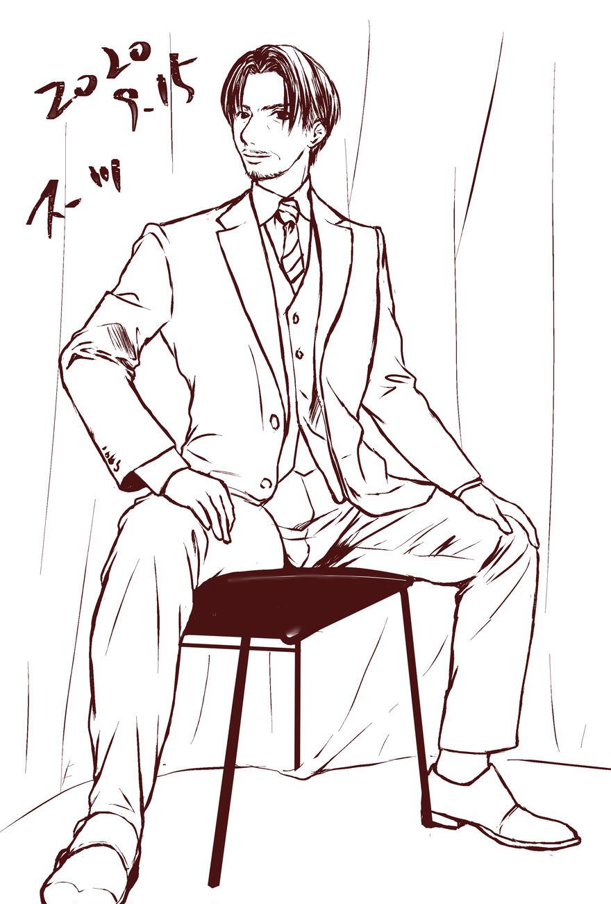 一日一絵・スーツ