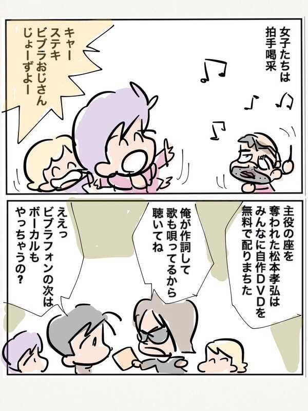 Bz松本孝弘と志村けんが登場したハチャメチャな初夢のお話。