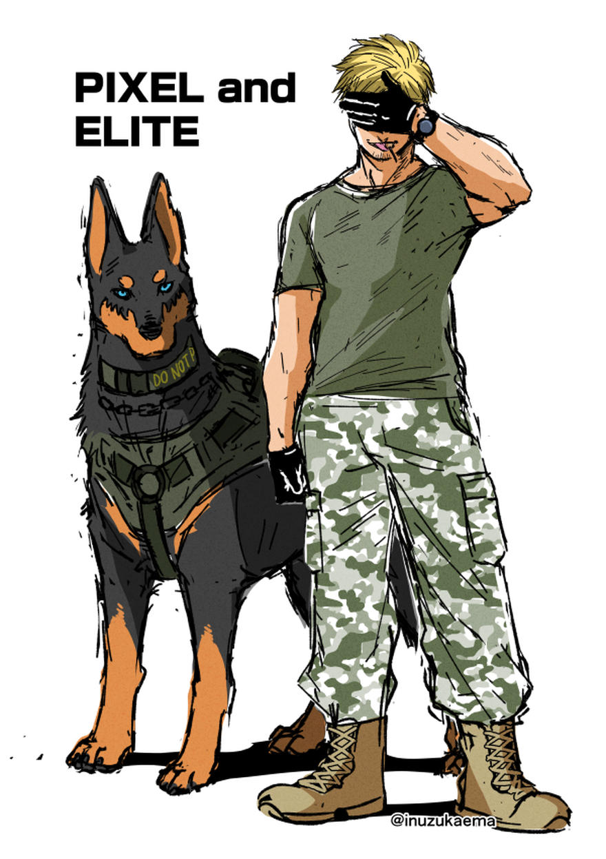 【特別なイヌ】エリートとピクセル