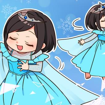 ありの~ままの~、とアナ雪のエルサごっこ(*´▽`*)