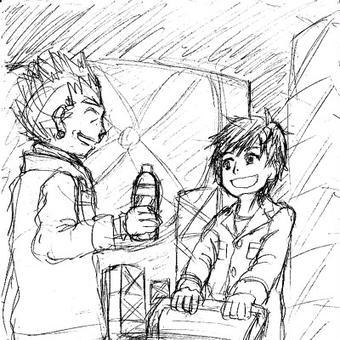 中学生タカトと叔父さん