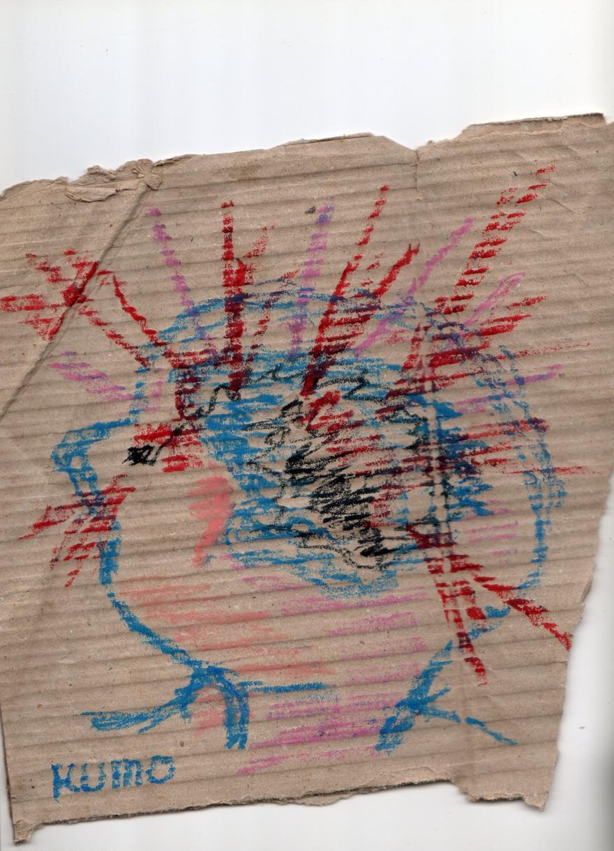 頭痛の呪い01ーダンボールアート