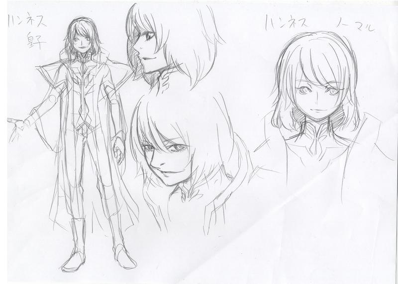 『消えた王女』キャラクターデザインラフ