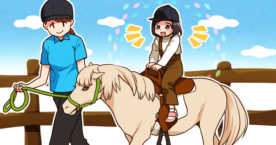 初めての乗馬体験(*´▽`*)