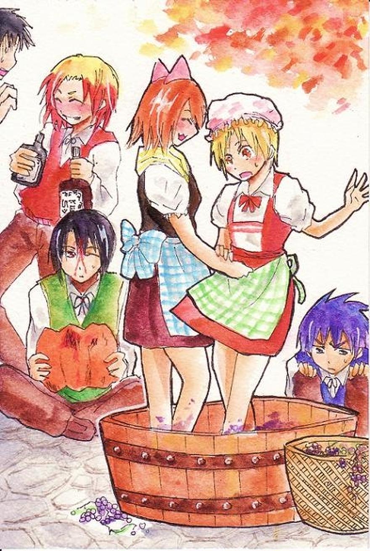 2011年のハロウィン絵(仮装ナシで収穫祭的な方)