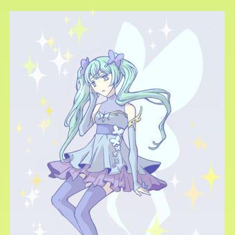 蝶のドレス