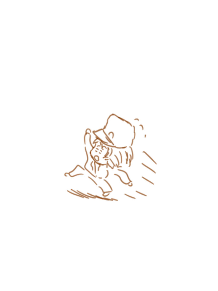 【オリキャラ】急げ急げ!【イラスト】