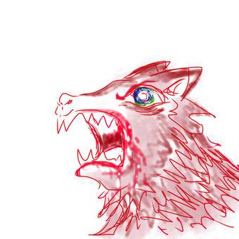 吠える狼、赤01