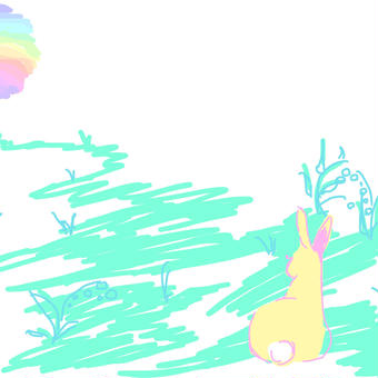 虹色うさぎ