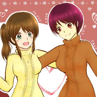 セーターとニーハイ