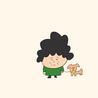 おばぁと犬