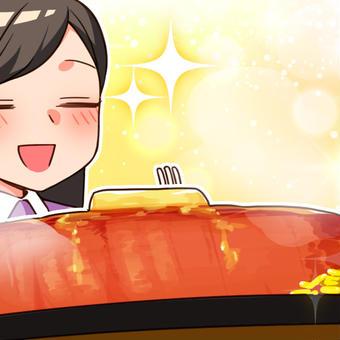 ステーキをど~ん!大満足♪
