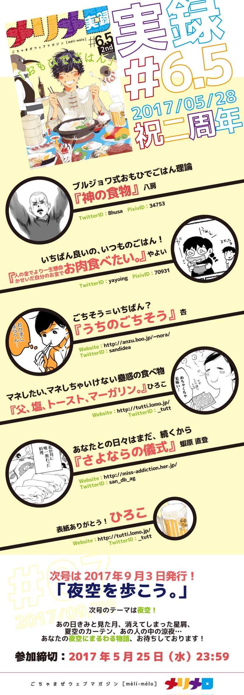 #6.5 実録「おもひでごはん」【メリメロ二周年!!】