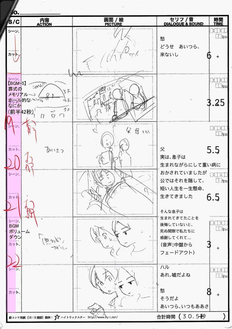 アニメ「雨上がりの虹」絵コンテ_02
