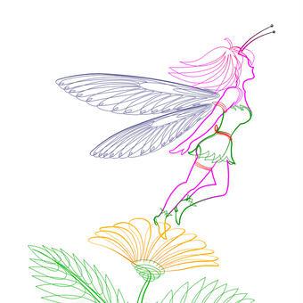 一筆書き 妖精