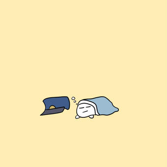 【オリキャラ】モチピラフが寝てる【ピラフドリア】
