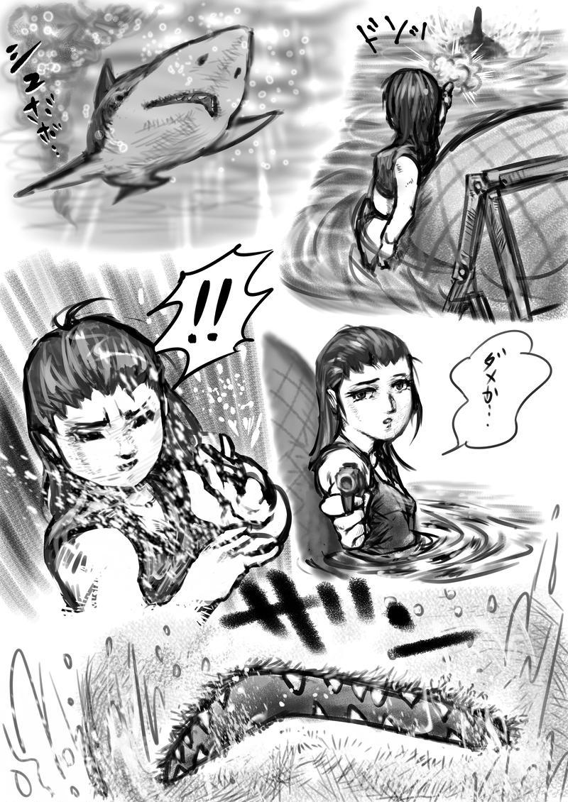 映画『ロスト・バケーション』勝手に漫画に改作 読み切り つづき