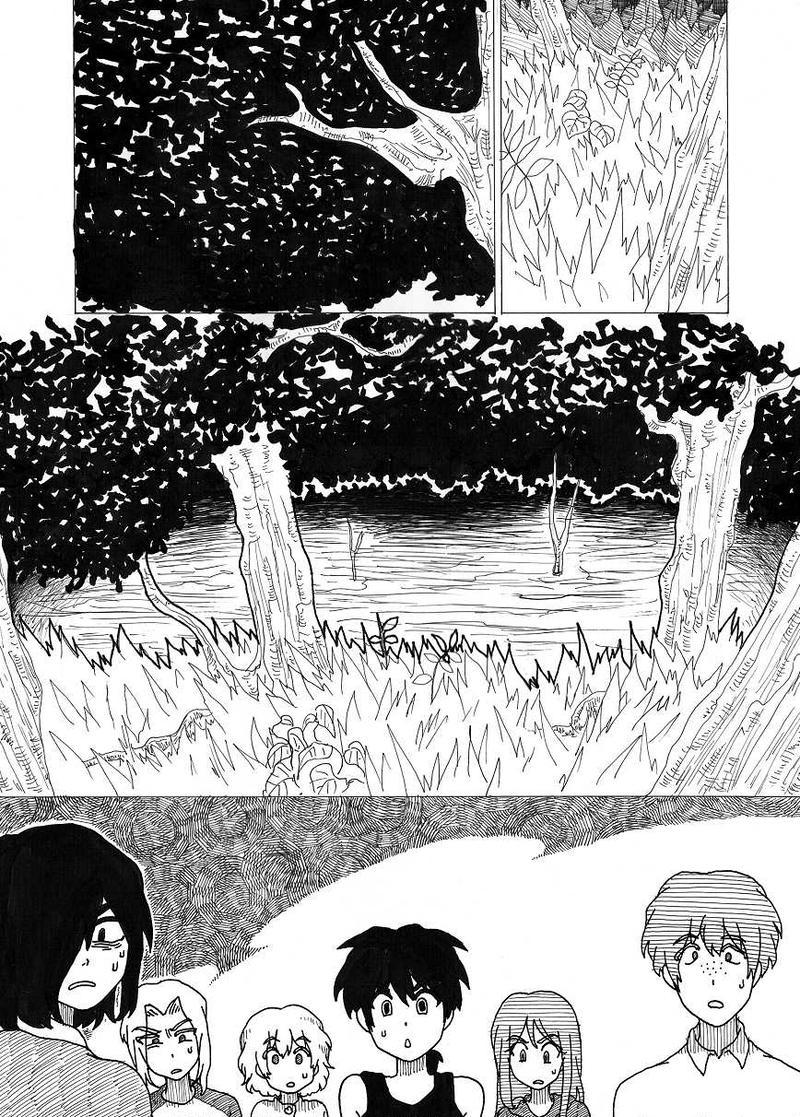 宙を舞う顔と沼の怪物