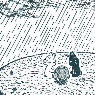 「トーイと雨」