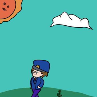 【オリキャラ】草原と【イラスト】
