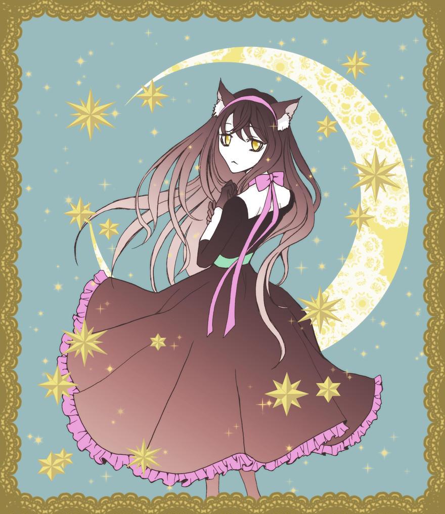 月と星と猫