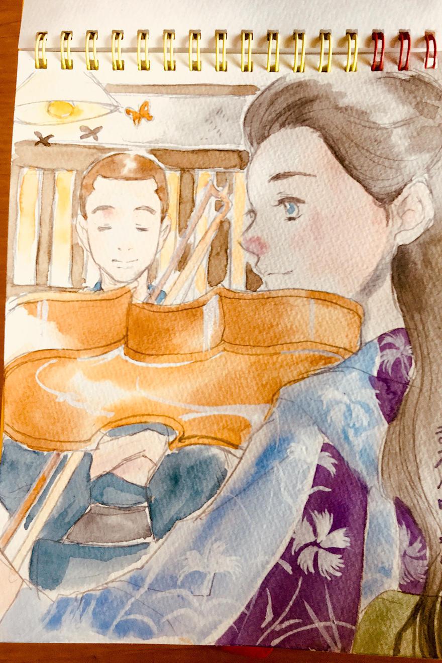 トシのバイオリン。